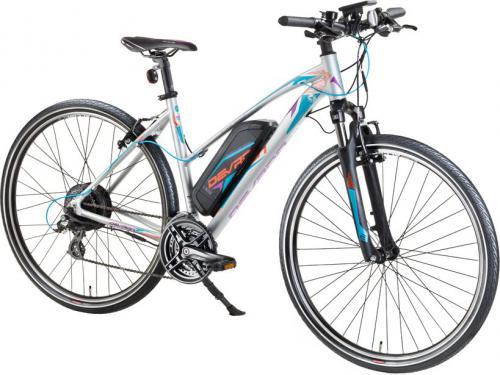 """Devron Damski crossowy rower elektryczny 28162 - model 2017 Kolor Szary, Rozmiar ramy 19,5"""""""
