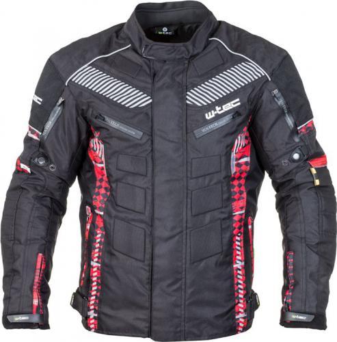 W-TEC Kurtka motocyklowa męska Kamicer NF-2100 czarno-czerwona r. L (15133-1-L)