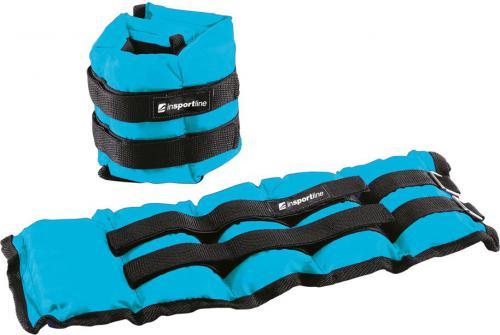 inSPORTline Regulowane obciążniki na kostki i nadgarstki BlueWeight 2 x 2 kg (13691)