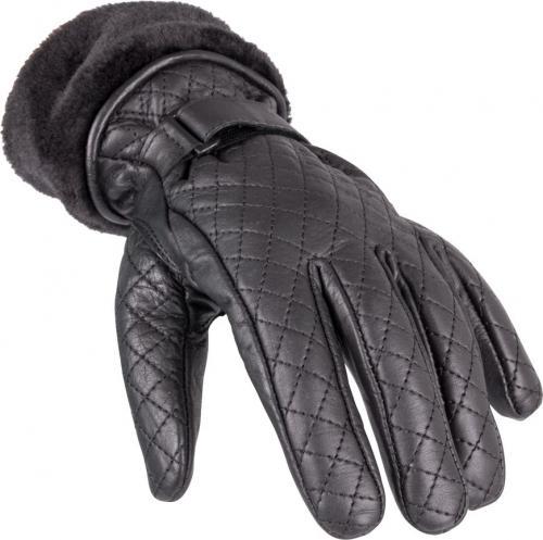 W-TEC Rękawice motocyklowe damskie skórzane Stolfa NF-4205 czarne r. M (15228)