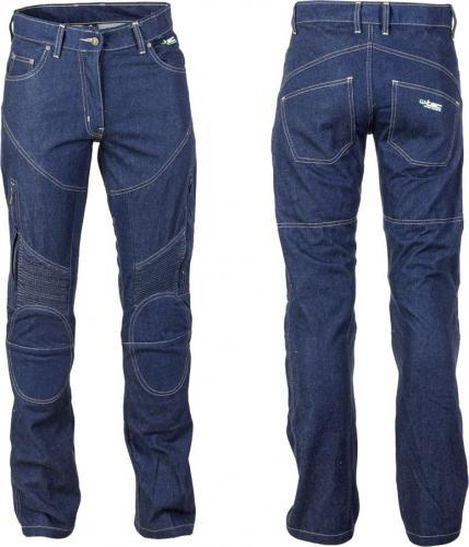 W-TEC Spodnie motocyklowe damskie jeansowe z kevlarem NF-2990 ciemny niebieski r. XL  (13564-XL)