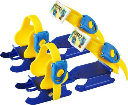 WORKER Dziecięce łyżwy saneczkowe Duckss niebiesko-żółte - 8796
