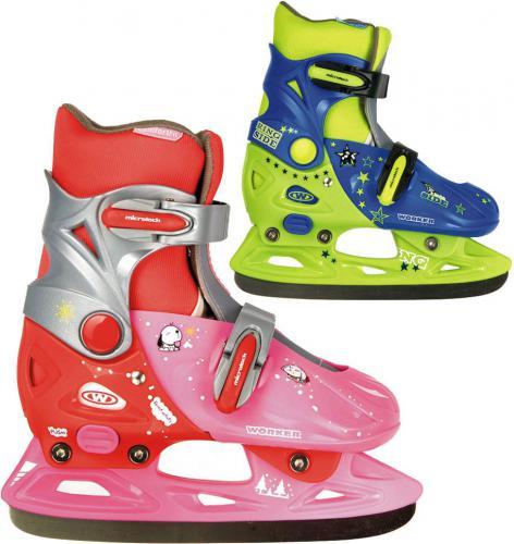 WORKER Dziecięce łyżwy Kelly Kolor różowo-czerwony, Rozmiar XS(29-32)