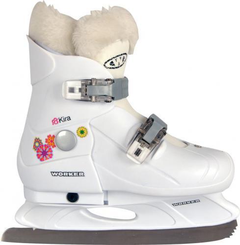 WORKER Dziecięce łyżwy regulowane Kira Rozmiar S (29-32)