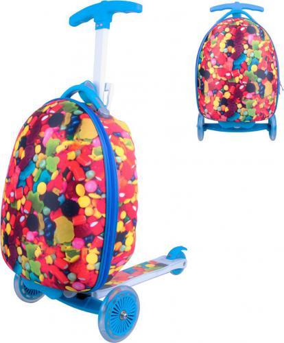 WORKER Hulajnoga trójkołowa z plecakiem dla dzieci Lagy Kolor cukierkowy