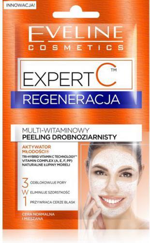 Eveline Expert C Regeneracja Peeling drobnoziarnisty multi-witaminowy  2x5ml