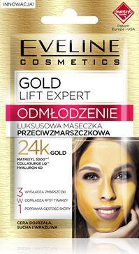 Eveline Gold Lift Expert Odmłodzenie Maseczka przeciwzmarszczkowa luksusowa - saszetka 2x5ml