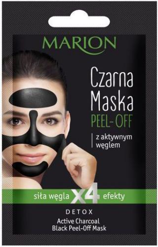 Marion Detox Aktywny Węgiel Maska czarna peel-off  6g