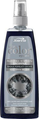 Joanna Ultra Color System Płukanka do włosów srebrna w sprayu  150ml