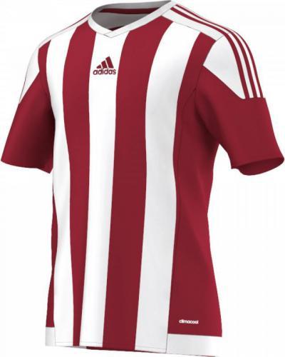 Adidas Koszulka piłkarska Striped 15 Junior Biało-czerwona, Rozmiar 164 (S16137*164)