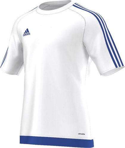 Adidas Koszulka piłkarska Estro 15 Junior biało-niebieska r. 164 (S16169)