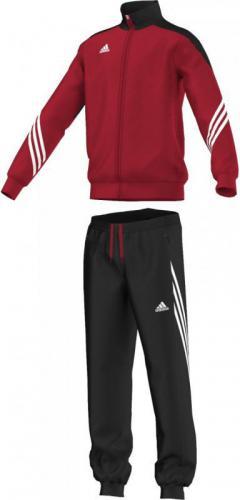 Adidas Dres treningowy Sereno 14 Junior Czerwono-czarny, Rozmiar 140 (D82933*140)