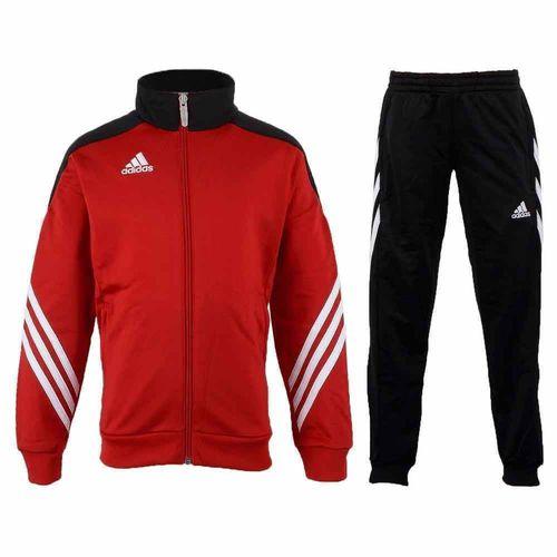 Adidas Dres treningowy Sereno 14 Junior Czerwono-czarny, Rozmiar 152 (D82933*152)