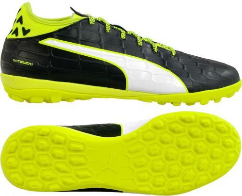 Puma Buty piłkarskie evoTOUCH TT M czarno-żółte r. 44.5 (10375401)