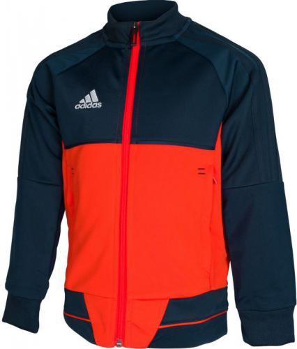 Adidas Bluza juniorska Tiro 17 Junior granatowo-pomarańczowa r.164 (BQ2614)