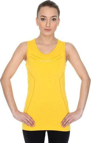 Brubeck Koszulka damska TA10200 Brubeck żółty roz. L