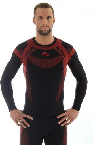 Brubeck Koszulka termoaktywna Brubeck Dry M LS11420 czarno-czerwona - LS11420*S
