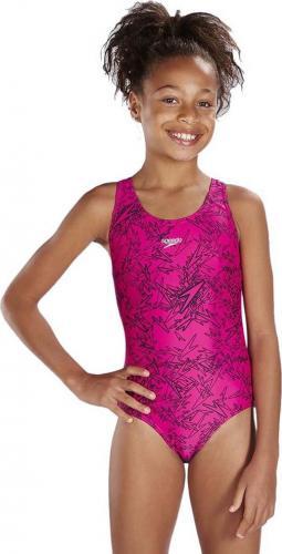 Speedo strój kąpielowy Boom Allover Splashback Junior różowy