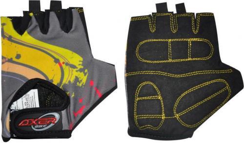 Axer Bike Rękawiczki rowerowe dziecięce Cycle Gloves For Children szaro-żółta r. XXS