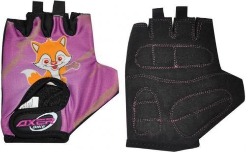 Axer Bike Rękawiczki rowerowe dziecięce Cycle Gloves For Children fioletowe r. XXS