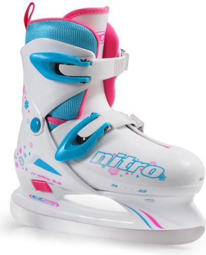 Roller Derby Łyżwy hokejowe Nitro 8.8 Girl białe r. 32-35 (8178)
