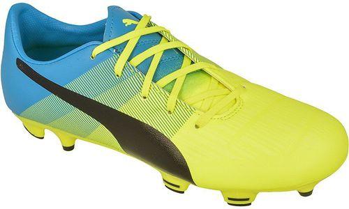Puma Buty piłkarskie  evoPOWER 3.3 FG Jr limonkowo-niebieskie r. 38 (10355701)