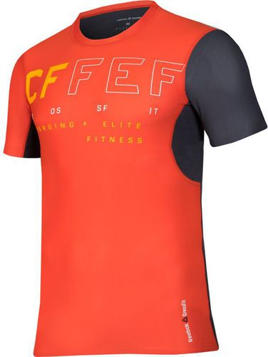 55443e4d40c8 Reebok Koszulka kompresyjna męska CrossFit Short Sleeve M pomarańczowa r.  XL (B45169)