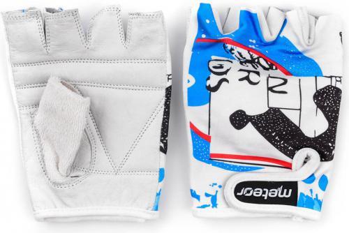 Meteor Rękawiczki rowerowe biało-niebieskie r. XL (23110)