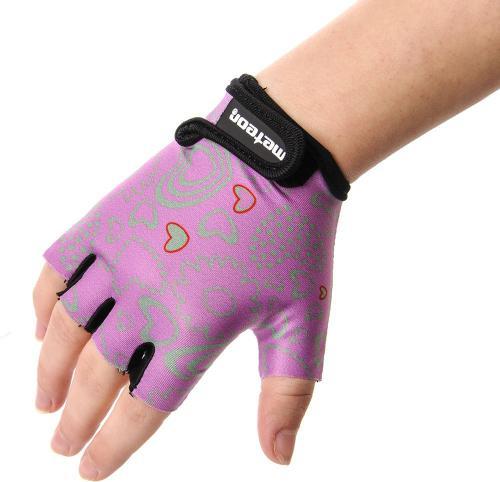 Meteor Rękawiczki rowerowe różowo-szare r. XXS (23374)