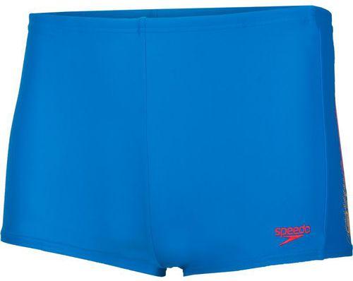 Speedo Kąpielówki dziecięce Sub Atomizer Logo Panel Aquashort Danube/Lava Red/Mango r. 140 (8-09312B515)
