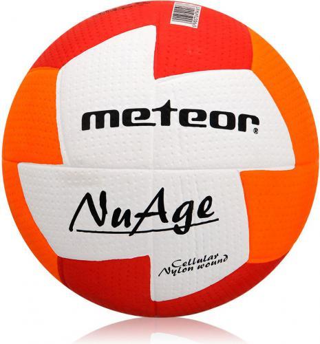 Meteor Piłka ręczna NuAge MINI #0 CZERWONO POMARAŃCZOWA (04071)