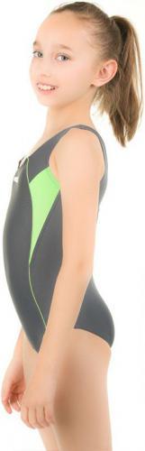 Aqua-Speed Kostium pływacki KATE 128/38 szary/zielony (43075)
