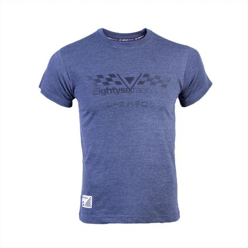PROJEKT 86 Koszulka męska 011GY niebieska r. M (921405)
