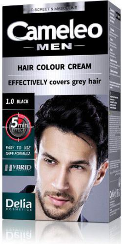 Delia Cosmetics Cameleo Men Hair Colour Cream farba do włosów 1.0 Black 30ml