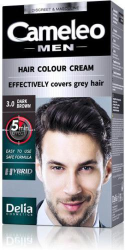 Delia Cosmetics Cameleo Men Hair Colour Cream  farba do włosów 3.0 Dark Brown 30ml