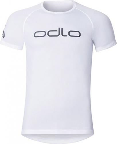 Odlo Koszulka s/s crew neck CUBIC LOGO LINE rozmiar M biała