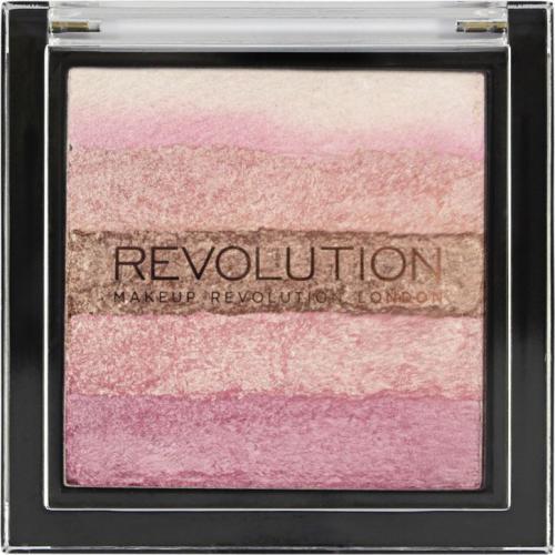Makeup Revolution Vivid Shimmer Brick - Pink Kiss Paletka różów 7g
