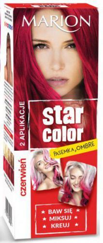 Marion Star Color Krem koloryzujący do włosów 162 Czerwień 2x35ml