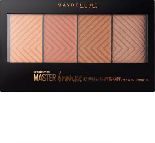 Maybelline  Master Bronze Color&Highlighting Palette paleta bronzerów 14g