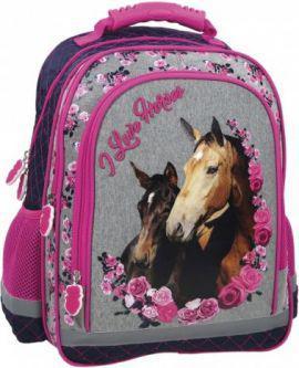 Derform Plecak Konie szaro-różowy (PL15BKO13)