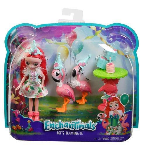 Mattel Enchantimals Lalka + Zwierzątko - Flamingi FCC62