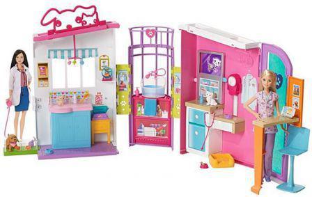 Mattel BARBIE Lecznica dla zwierząt FBR36