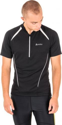 Odlo Koszulka męska Golf Stand-up collar s/s 1/2 Fluid czarna r. M (410652)