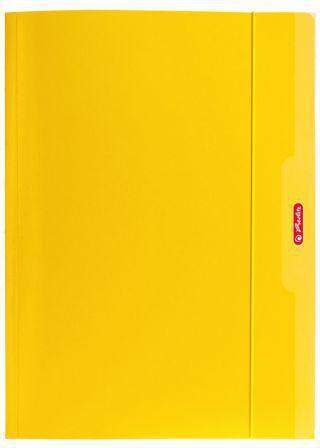 Herlitz Teczka A4 z gumką żółty Color Blocking (174042)