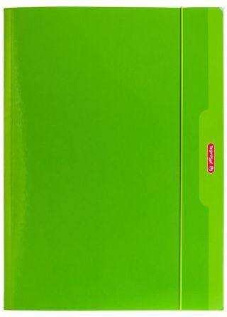 Herlitz Teczka A4 z gumką zielony Color Blocking (174043)