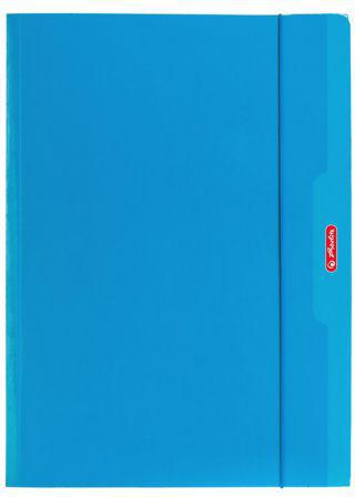 Herlitz Teczka A4 z gumką niebieski Color Blocking (174044)