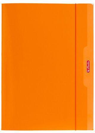 Herlitz Teczka A4 z gumką pomarańczowy Color Blocking (174045)