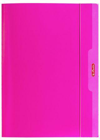 Herlitz Teczka A4 z gumką różowy Color Blocking (174047)