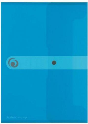 Herlitz Teczka A4 PP na dokumenty Easy Orga Niebieska transponowana (199794)