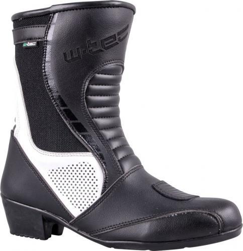 W-TEC Buty motocyklowe damskie, skórzane Beckie W-5036 czarno-białe r. 37 (15057)
